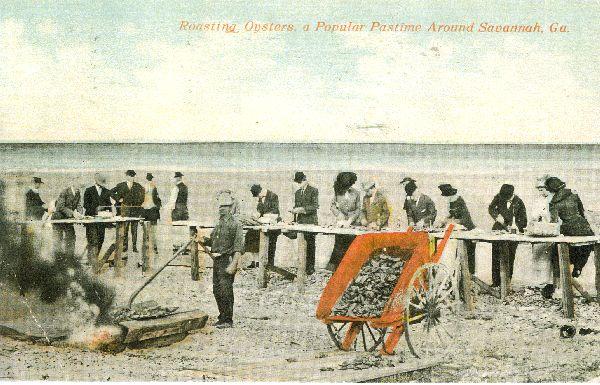 S_oyster roast on the beach